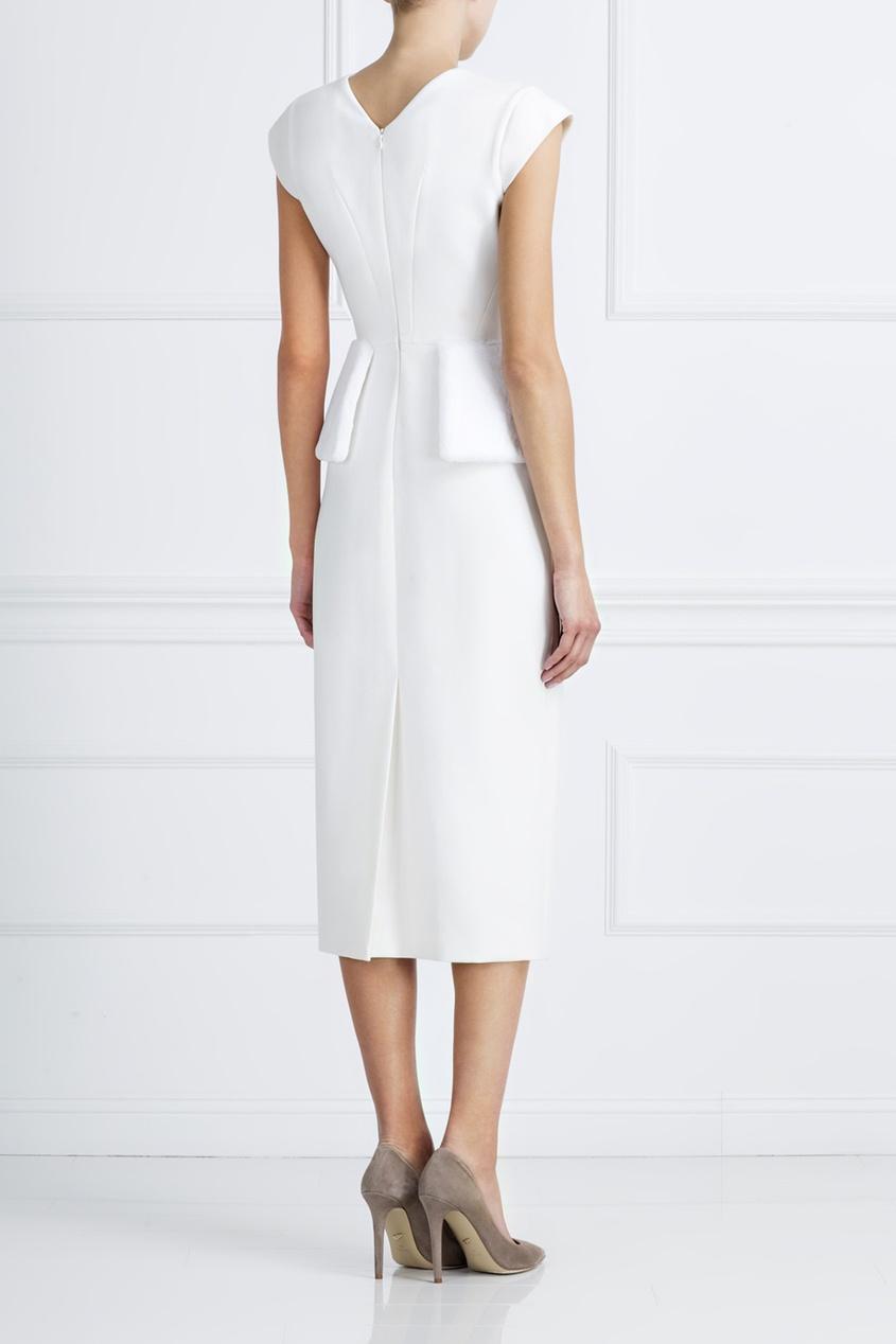 Купить Шерстяное Белое Платье